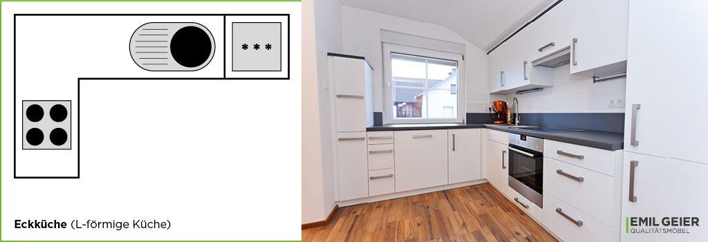 Küchenmeter Emil Geier individuelle Maßküchen – Eckküche L-förmige Küche