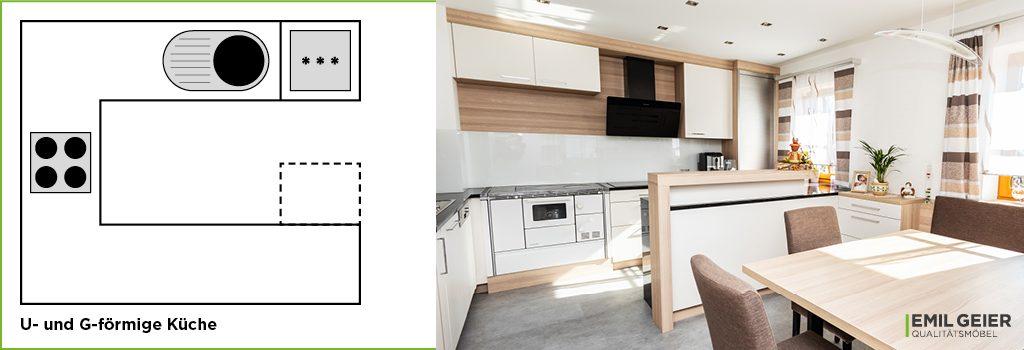 Küchenmeter Emil Geier individuelle Maßküchen U-förmige Küche