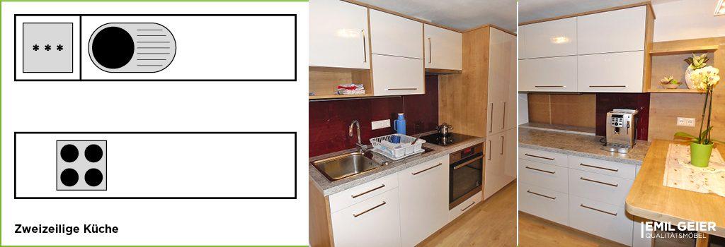 Küchenmeter Emil Geier individuelle Maßküchen – zweizeilige Küche
