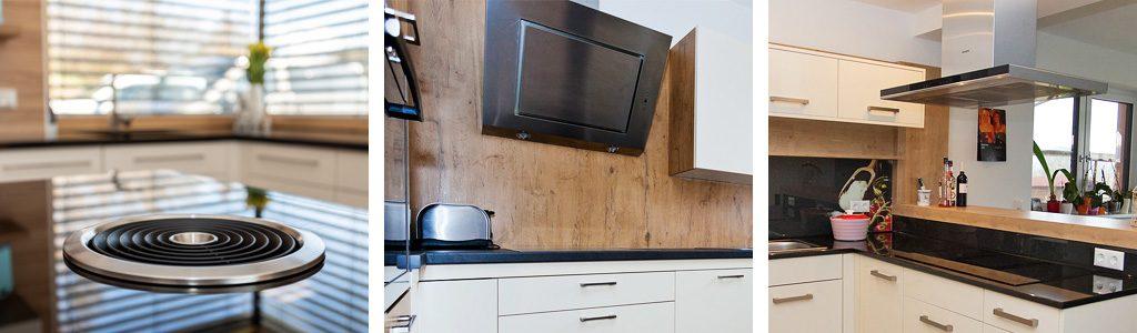 Küchenmeter Emil Geier individuelle Maßküchen - Küchenplanung - Unterschiedliche Bauweisen eines Dunstabzug